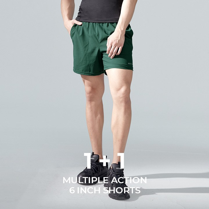 Multiple Action 6inch Shorts 1+1