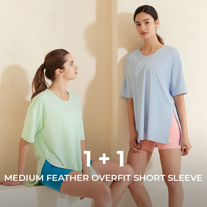 Medium feather Overfit Short Sleeve 1+1